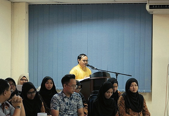 President of IRKHSSS, Bro. Mohamad Ika Danial 'Abdullah giving his speech on IRKHSSS AGM 2019 Photographer: Muhammad Nazmi Bin Ahmad Shukhairi of IRKHSSS